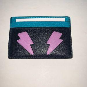 New Coach Credit card holder Bleu  F11725